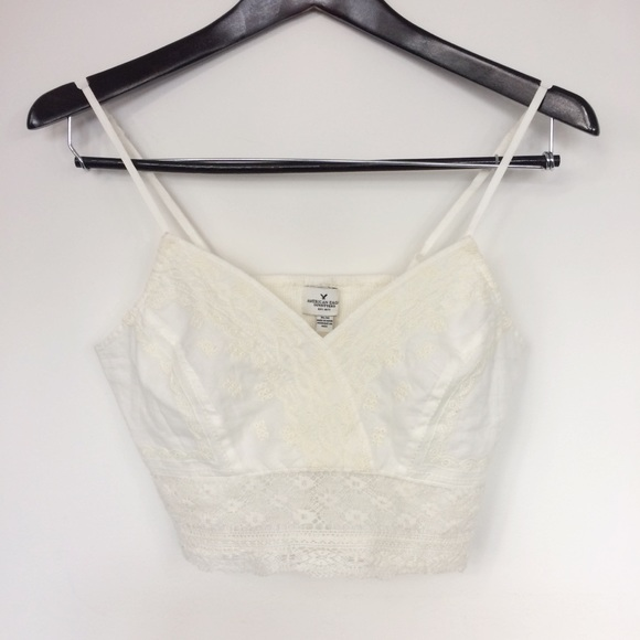 87f01c77468 American Eagle Outfitters Tops | American Eagle White Lace ...
